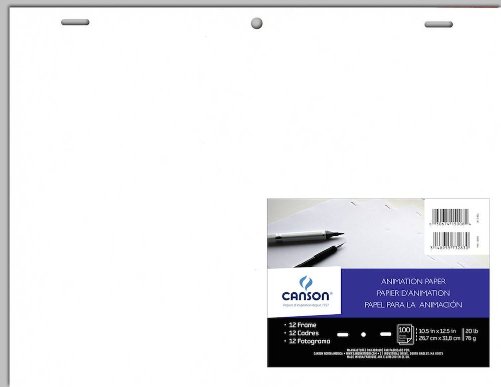 CANSON CANSON ANIMATION PAPER ACME HOLE PUNCHED 10.5X12.5 20LB 100/PK