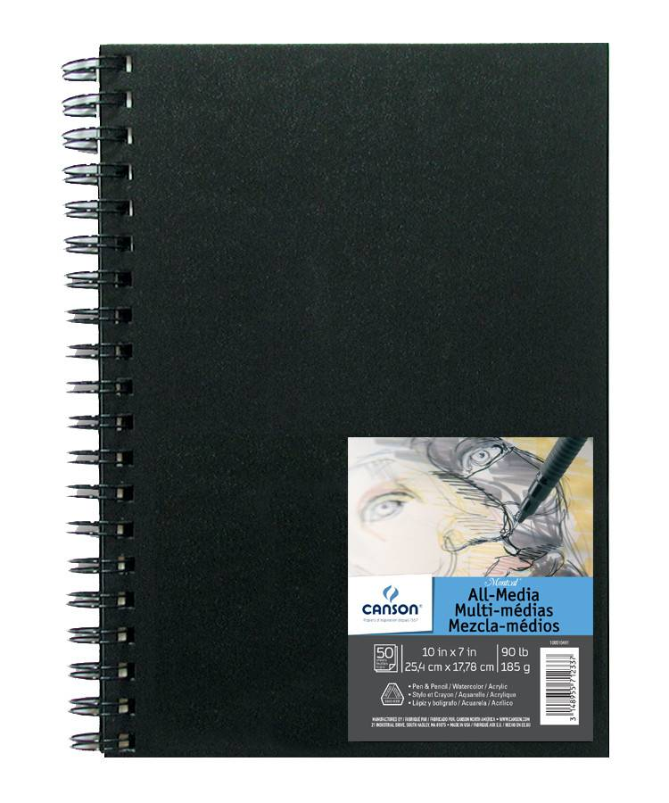 CANSON CANSON MONTVAL ALL-MEDIA FIELD BOOK 90LB 9X12 HARDCOVER SIDE COIL  50/SHT    CAN-100510441