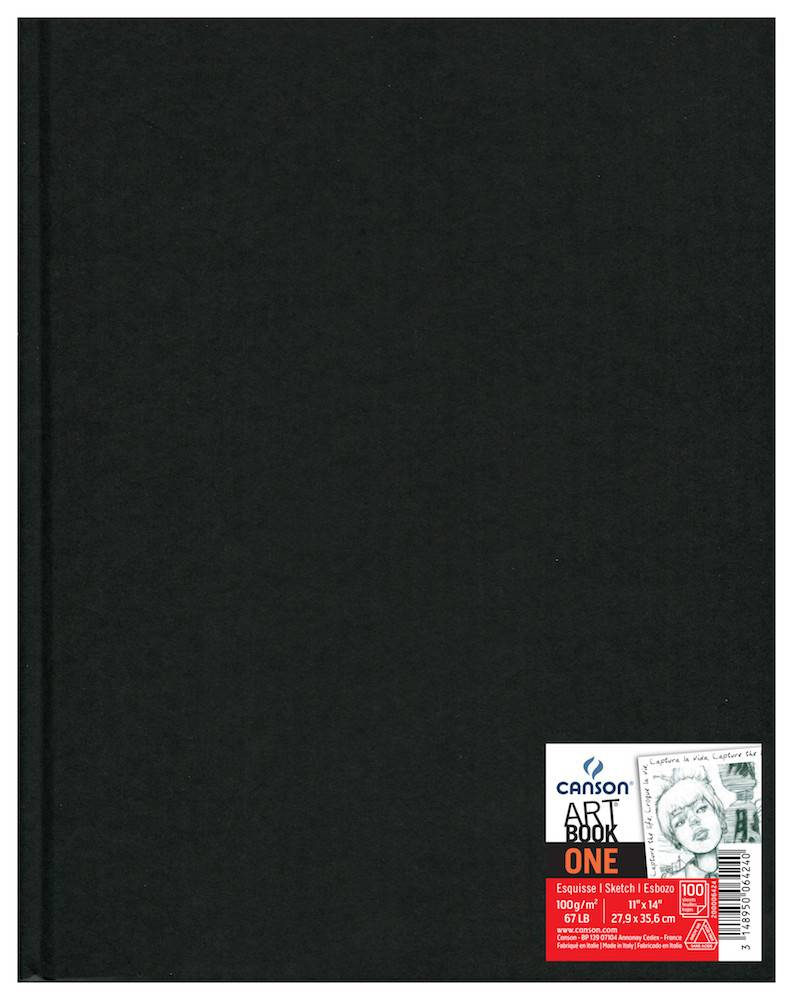 CANSON CANSON ART BOOK ONE 11X17 67LB HARDBOUND  100/SHT    CAN-200006424
