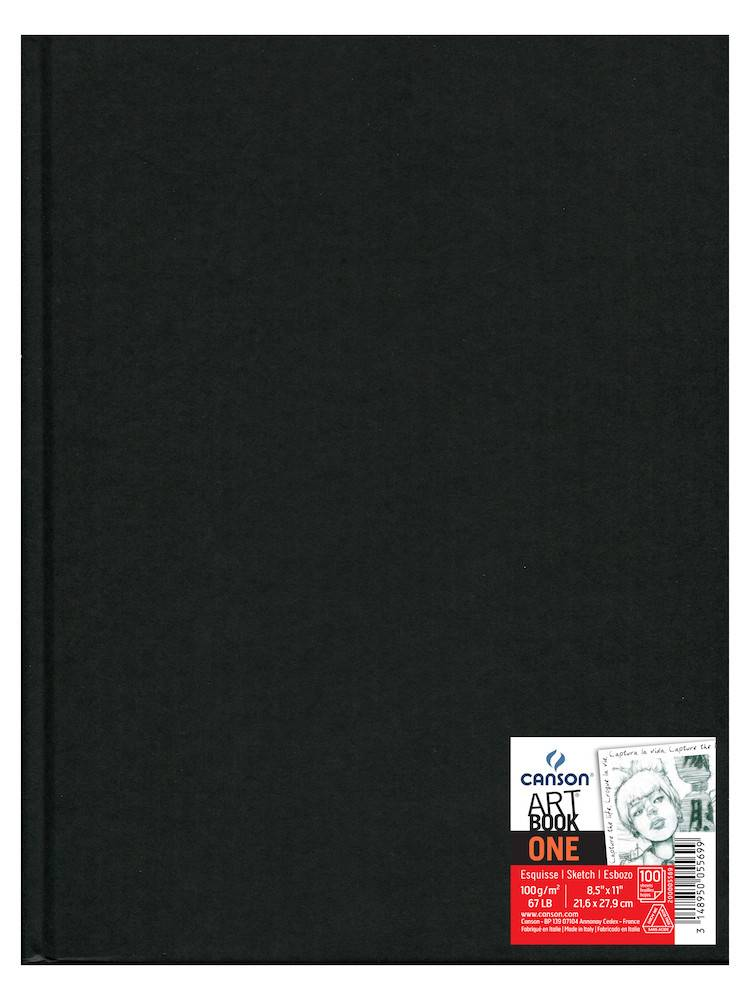 CANSON CANSON ART BOOK ONE 8.5X11 67LB HARDBOUND  100/SHT    CAN-200005569