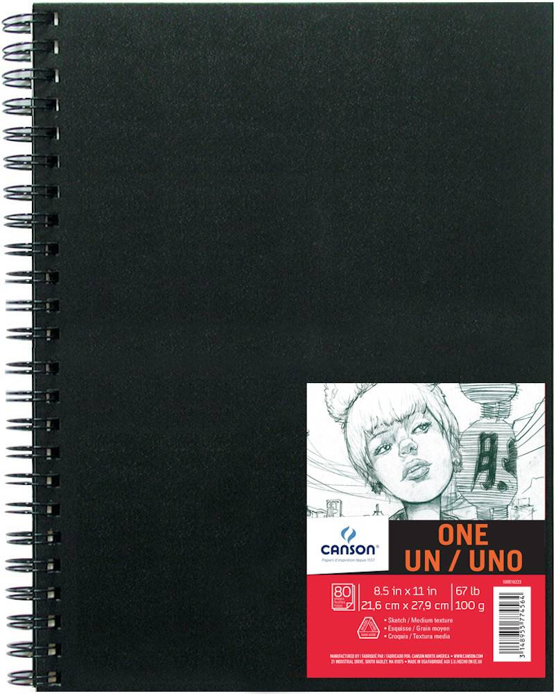 CANSON CANSON ART BOOK ONE 8.5X11 67LB SIDE COIL  80/SHT    CAN-100516223
