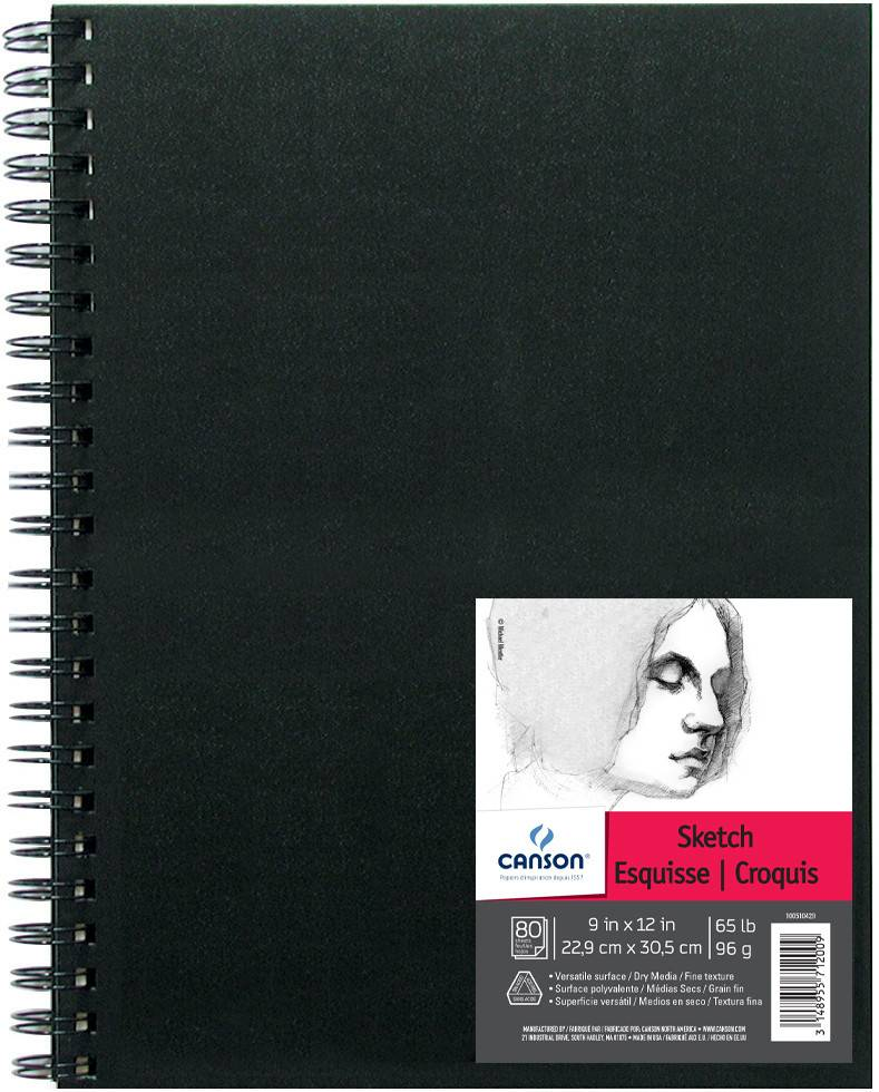 CANSON CANSON ARTIST SERIES SKETCH BOOK 9X12 65LB SIDE COIL  80/SHT    CAN-100510429