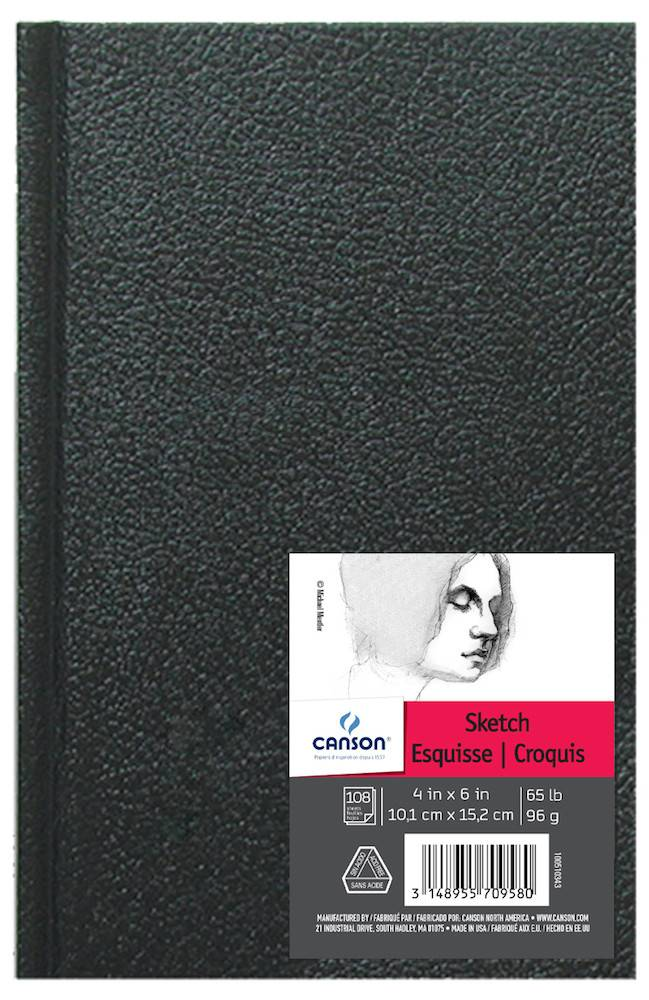 CANSON CANSON ARTIST SERIES SKETCH BOOK 4X6 65LB HARDBOUND  108/SHT    CAN-100510343