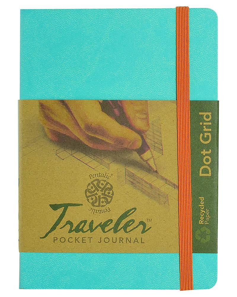 PENTALIC PENTALIC TRAVELER POCKET JOURNAL DOT GRID 6X4 TURQUOISE