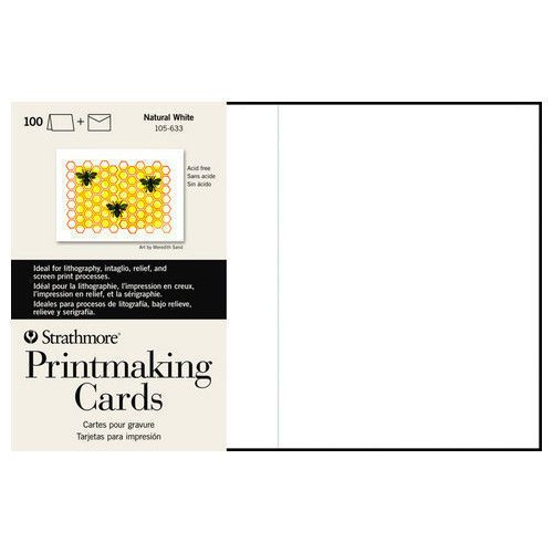 STRATHMORE STRATHMORE PRINTMAKING CARDS WITH ENVELOPES 50/PK    STR-105-233