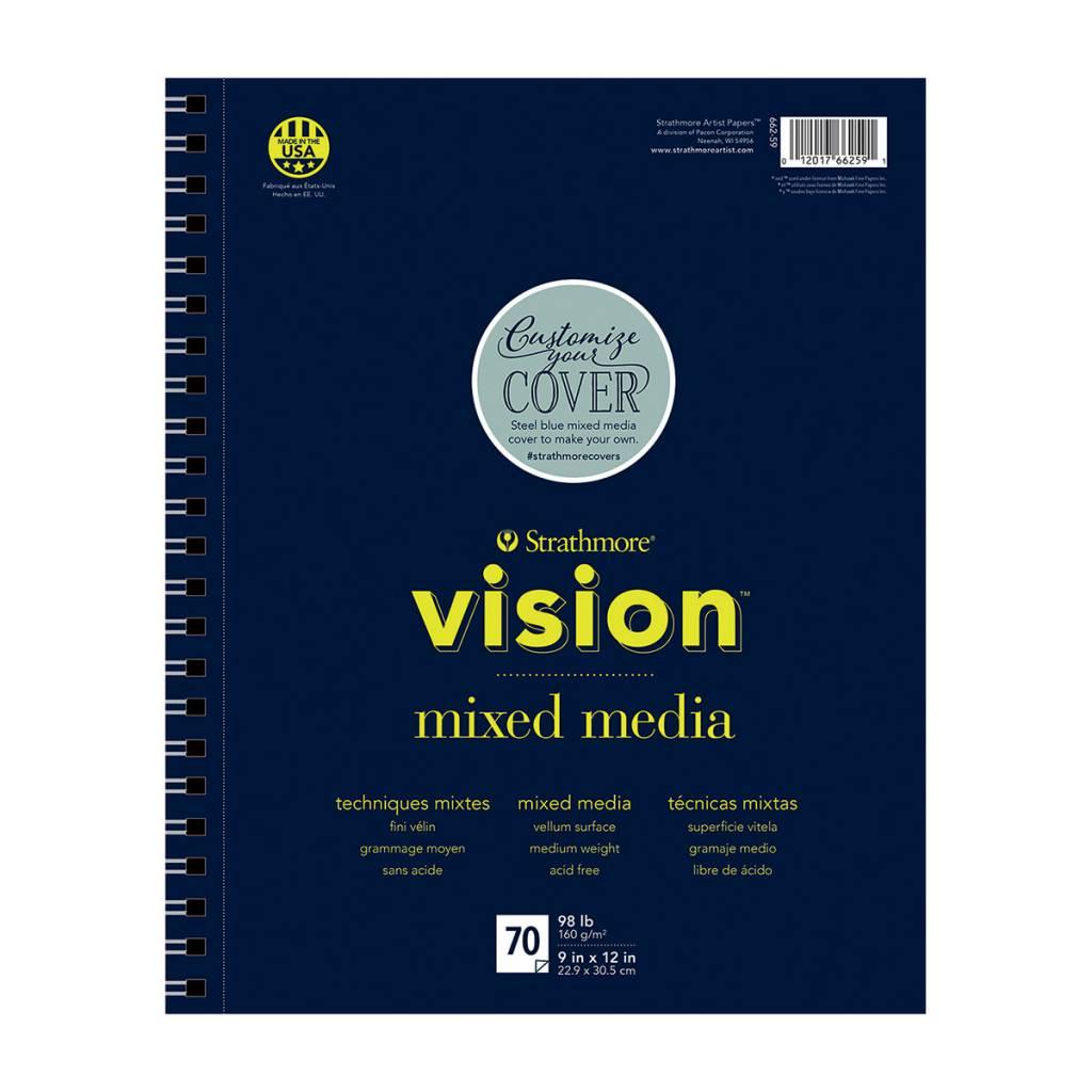 STRATHMORE STRATHMORE VISION MIXED MEDIA PAD 11X14 98LB SIDE COIL  70/SHT    STR-662-59