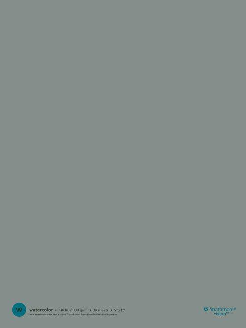 STRATHMORE STRATHMORE VISION WATERCOLOUR PAD 9X12 140LB TAPE BOUND  30/SHT    STR-640-59
