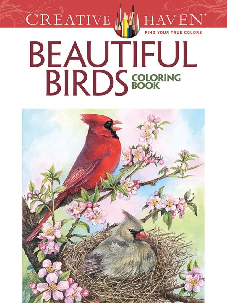 DOVER PUBLICATIONS CREATIVE HAVEN BEAUTIFUL BIRDS COLOURING BOOK