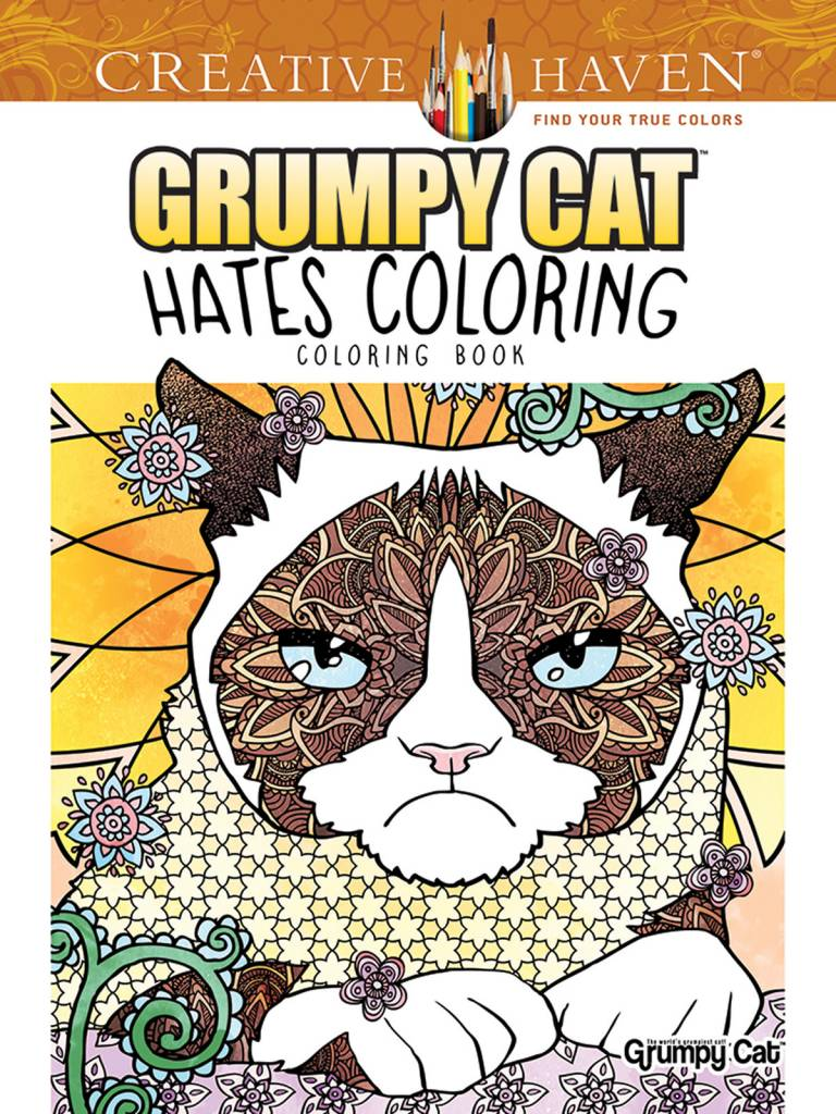 DOVER PUBLICATIONS CREATIVE HAVEN GRUMPY CAT HATES COLORING COLOURING BOOK