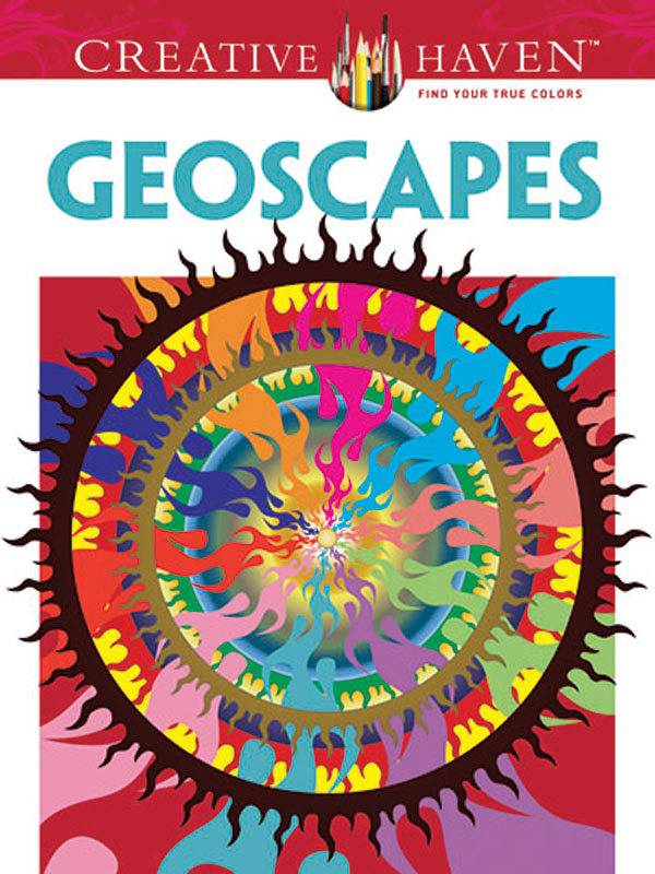 DOVER PUBLICATIONS CREATIVE HAVEN GEOSCAPES COLOURING BOOK