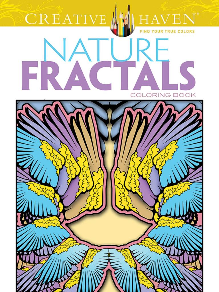 DOVER PUBLICATIONS CREATIVE HAVEN NATURE FRACTALS COLOURING BOOK