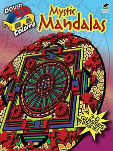 DOVER PUBLICATIONS CREATIVE HAVEN MYSTIC MANDALAS 3D COLOURING BOOK
