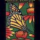 DOVER PUBLICATIONS BEAUTIFUL BUTTERFLIES STAINED GLASS COLOURING BOOK