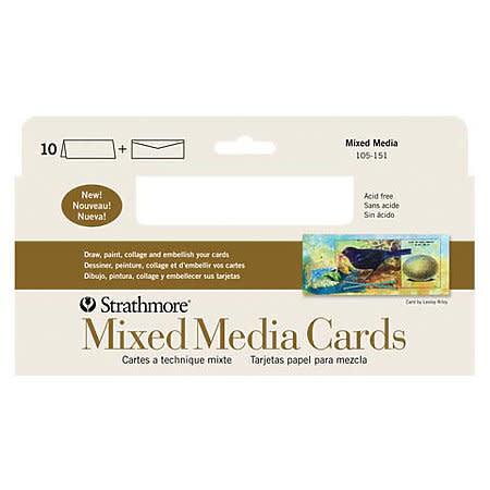 "STRATHMORE STRATHMORE MIXED MEDIA CARDS 3.5"" X 4.875"" 105-18"