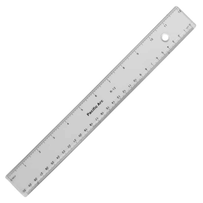 PACIFIC ARC RULER 12'' CLEAR PLASTIC