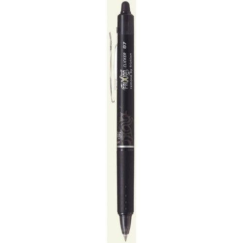 PILOT PILOT FRIXION BALL CLICKER ERASABLE GEL INK PEN EXTRA FINE 0.5MM BLACK