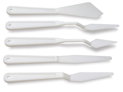 JACK RICHESON RICHESON PLASTIC PALETTE KNIFE SET/5