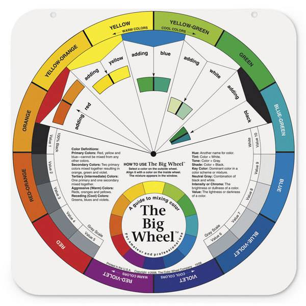 COLOR WHEEL COMPANY COLOUR WHEEL THE BIG WHEEL