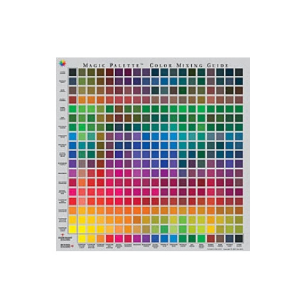 MAGIC PALETTE MAGIC PALETTE COLOR MIXING GUIDE 11.5X11.5