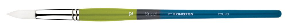 PRINCETON PRINCETON SNAP BRUSH SERIES 9800 WHITE SYNTHETIC LH ROUND 12