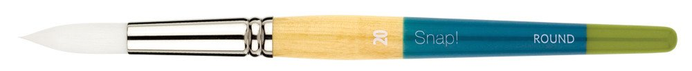 PRINCETON PRINCETON SNAP BRUSH SERIES 9850 WHITE SYNTHETIC SH ROUND 0