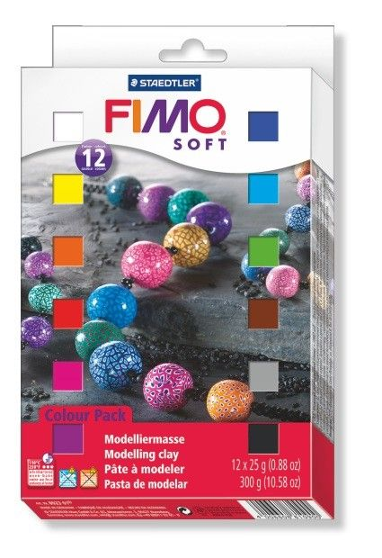 STAEDTLER FIMO SOFT HALF BLOCKS ASSORTED SET/12