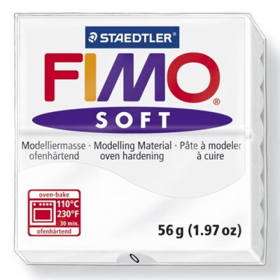STAEDTLER FIMO SOFT OVEN BAKE CLAY 0 WHITE 57G