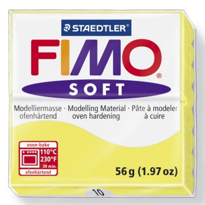 STAEDTLER FIMO SOFT OVEN BAKE CLAY 10 LEMON 57G