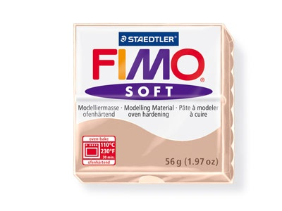 STAEDTLER FIMO SOFT OVEN BAKE CLAY 43 FLESH 57G