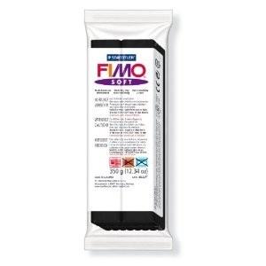 STAEDTLER FIMO SOFT OVEN BAKE CLAY 9 BLACK 350G