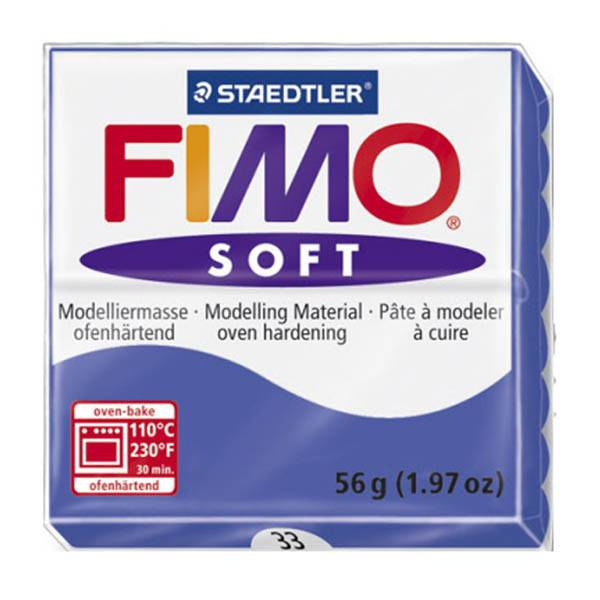 STAEDTLER FIMO SOFT OVEN BAKE CLAY 33 BRILLIANT BLUE 57G