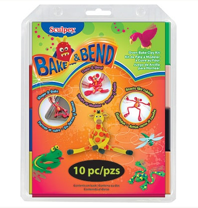 SCULPEY SCULPEY SUPERFLEX BAKE & BEND CLAY 2OZ SET/8