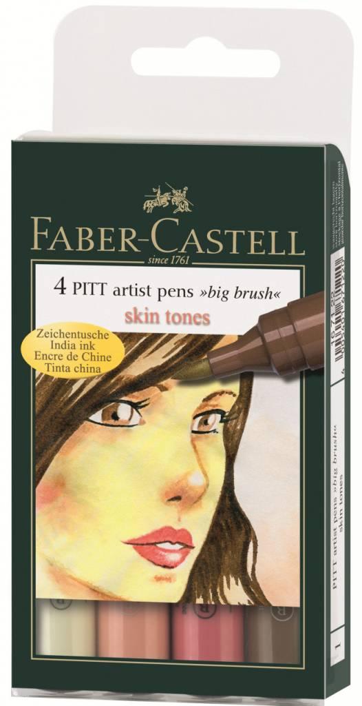 FABER CASTELL PITT ARTIST PEN BIG BRUSH SET/4 SKINTONE