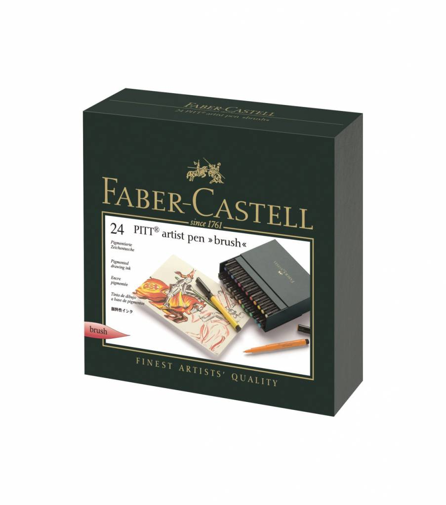FABER CASTELL PITT ARTIST PEN BRUSH SET/24 STUDIO BOX