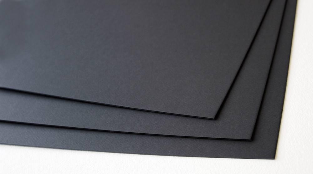 CANSON MI-TEINTES ART BOARD 425 STYGIAN BLACK/BLACK CORE 16X20