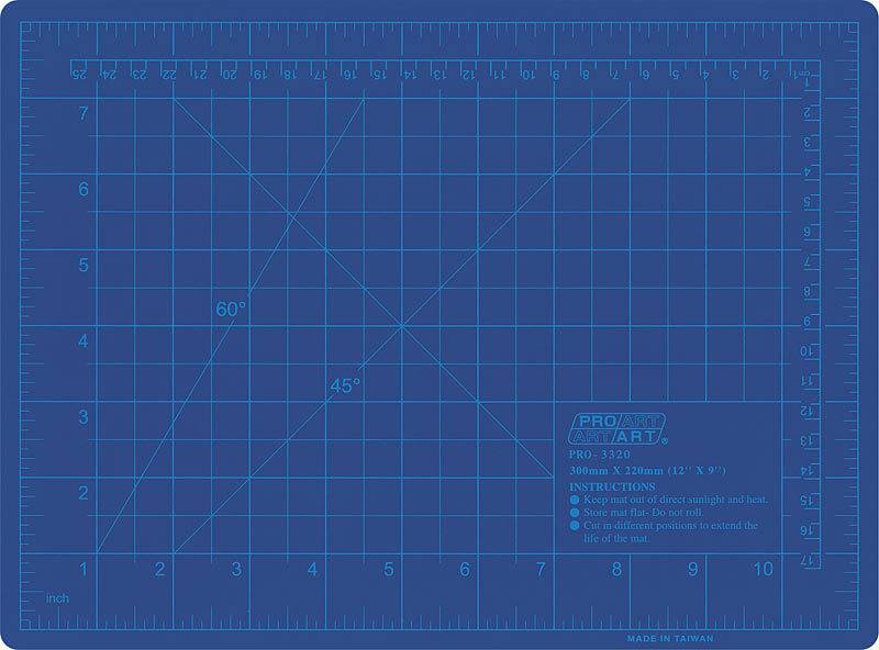 PRO ART PRO ART CUTTING MAT BLUE 18X24