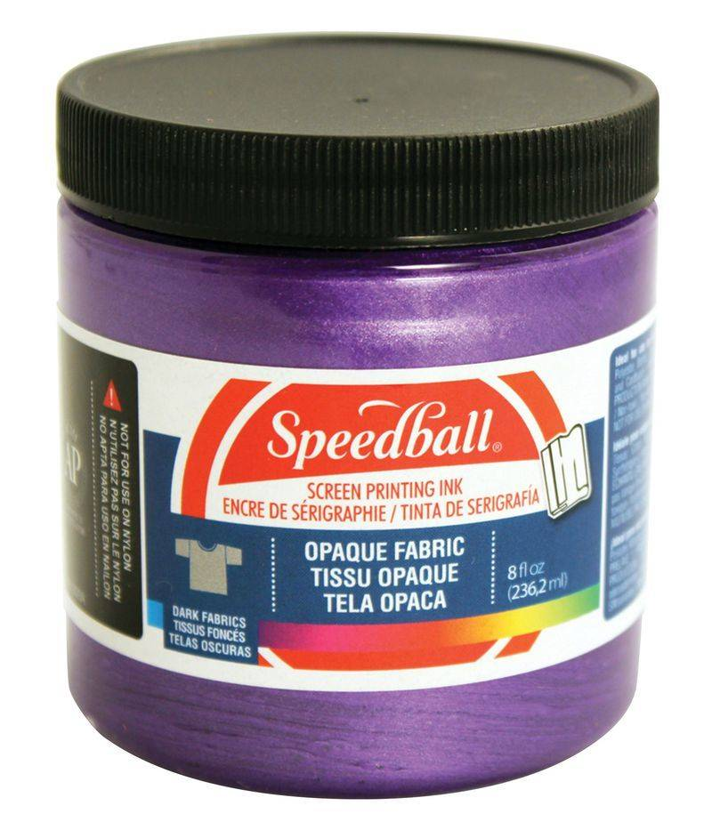 SPEEDBALL INC SPEEDBALL OPAQUE FABRIC SCREEN PRINTING INK AMETHYST 8OZ