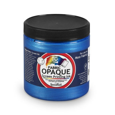 SPEEDBALL INC SPEEDBALL OPAQUE FABRIC SCREEN PRINTING INK BLUE TOPAZ 8OZ