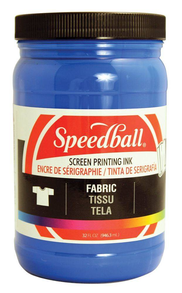 SPEEDBALL INC SPEEDBALL FABRIC SCREEN PRINTING INK BLUE 32OZ