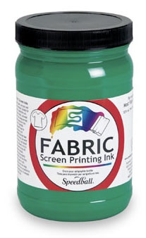 SPEEDBALL INC SPEEDBALL FABRIC SCREEN PRINTING INK GREEN 32OZ