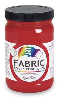 SPEEDBALL INC SPEEDBALL FABRIC SCREEN PRINTING INK RED 32OZ