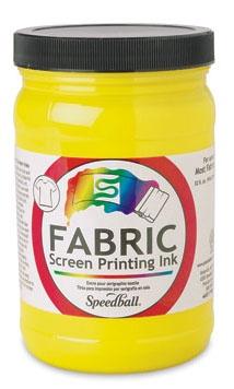 SPEEDBALL INC SPEEDBALL FABRIC SCREEN PRINTING INK YELLOW 32OZ