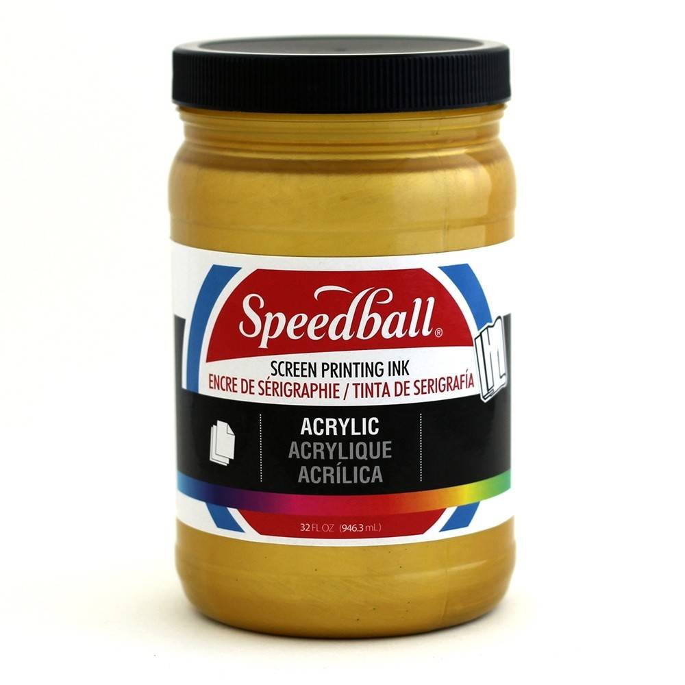 SPEEDBALL INC SPEEDBALL OPAQUE FABRIC SCREEN PRINTING INK GOLD 32OZ