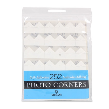 CANSON CANSON PHOTO CORNERS SELF-ADHESIVE WHITE 252/PK    CAN-100510397