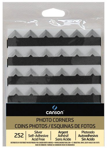 CANSON CANSON PHOTO CORNERS SELF-ADHESIVE BLACK 252/PK    CAN-100510395