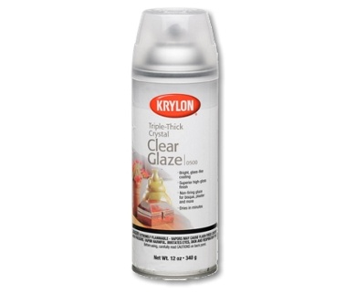 KRYLON KRYLON TRIPLE THICK CRYSTAL CLEAR GLAZE 12OZ    0500