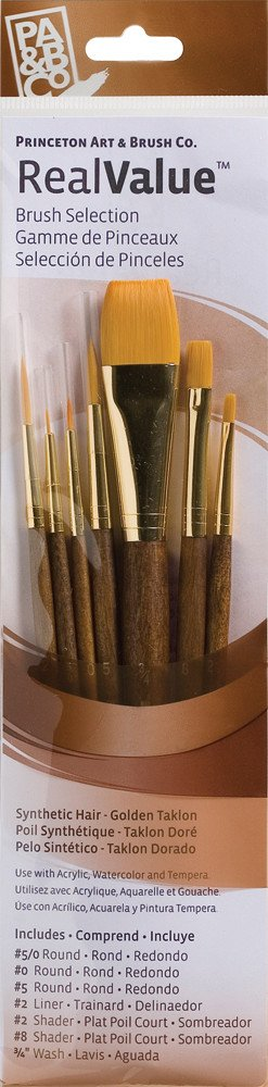 PRINCETON PRINCETON REALVALUE BRUSH SET NO. 9141 SH GOLD TAKLON