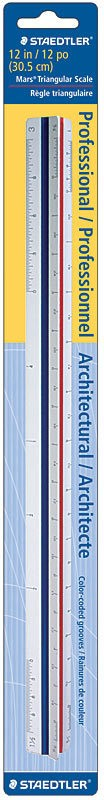 STAEDTLER STAEDTLER TRIANGULAR SCALE RULER METRIC SURVEYORS   18-6