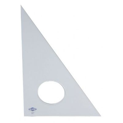 ALVIN ALVIN TRIANGLE 45/90 12 INCH CLEAR