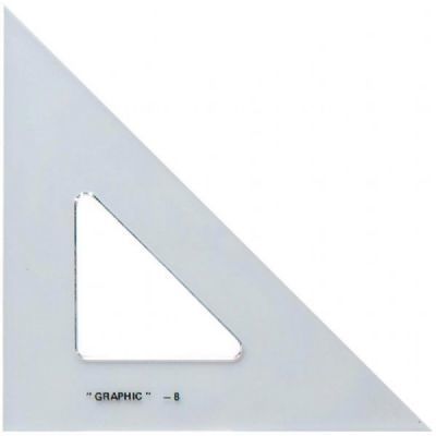 ALVIN ALVIN ACADEMIC TRIANGLE 45/90 12 INCH CLEAR
